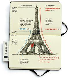 Cuadernos de Viaje, por Mónica Serrano #journal #urban #sketch