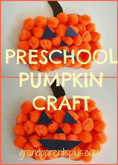 Heres A Quick Easy And Fun Preschool Pumpkin Craft It Looks Great