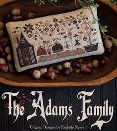 THE ADAMS FAMILY - This is a spin-off from the John & Abigail chart Paulette released earlier this year. This new design features John, Abigail, and two of their six children (Nabby and John Quincy) d