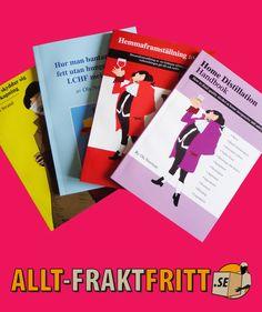 Böcker om allt vrån viktminskning till hembryggning. Bra böcker som ofta är svåra att få tag i. Books, Libros, Book, Book Illustrations, Libri