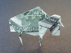 $2 bill BUFFALO Money Origami