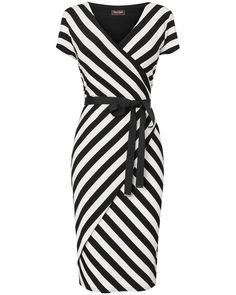 Phase Eight | Coco Stripe Wrap Dress | Womens