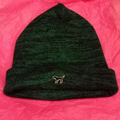 PINK black and teal hat Cute black and teal hat by VS Pink! Great to keep ears and head warm. PINK Victoria's Secret Accessories Hats