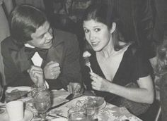 retrostarwarsstrikesback:  Mark Hamill and Carrie Fisher at the premiere of Empire Strikes Back meal retrostarwarsstrikesback