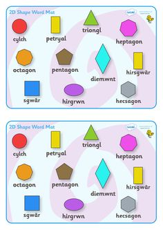 Shapes in Welsh.