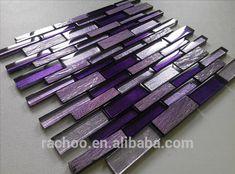 Source Purple slate mix crystal glass random brick mosaic kitchen backsplash bathroom wall tile on m Glass Mosaic Tile Backsplash, Kitchen Backsplash, Backsplash Ideas, Cement Tiles, Tile Ideas, Room Wall Tiles, Bathroom Wall, Bathroom Ideas, Purple Bedrooms