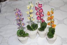 Mini Vasinho de orquidea Artificial Ideal para lembrancinhas R$ 8,00
