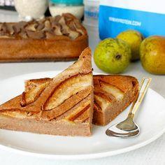 Fitness hruškový tvarožník - recept Bajola Healthy Cake, Healthy Desserts, Healthy Recipes, Healthy Food, French Toast, Cheesecake, Goodies, Fitness, Cooking