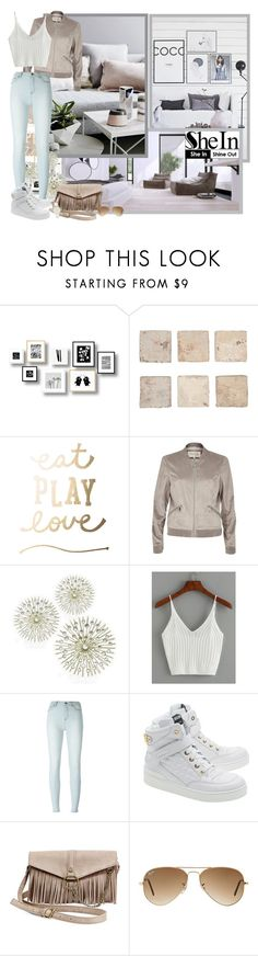 """""""Knit White Top - Contest!"""" by asia-12 ❤ liked on Polyvore featuring River Island, WALL, BLK DNM, Moschino, Steve Madden, Ray-Ban and Kate Spade"""