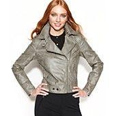 RACHEL Rachel Roy Jacket, Faux-Leather Asymmetrical Moto