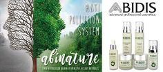 Abinature, primera línea de Abidis formulada con ingredientes naturales pensada para satisfacer todas las necesidades de la piel de cualquier edad sometida diariamente a un ambiente polucionado o condiciones ambientales adversas.