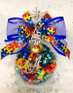 Personalized Autism Glass Ornament Autism by SpecialOrnaments