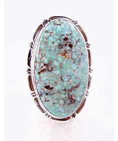 Sterling Silver Dry Creek Turquoise Ring Size 8 #IndianJewelryStore