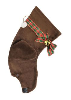 """""""Just got my chocolate lab stocking today. I LOVE IT!!!! So does Moose. It's super soft and the..."""" -Christina R."""