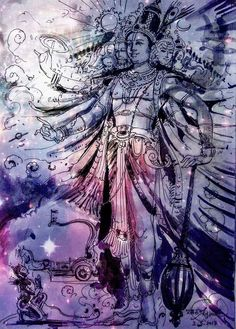 Shiva Art, Krishna Art, Hindu Art, Lord Hanuman Wallpapers, Lord Krishna Hd Wallpaper, Canvas Painting Designs, Indian Art Gallery, Saraswati Goddess, Illustration Art Drawing