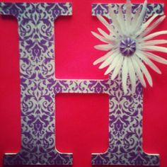 Wooden letter H