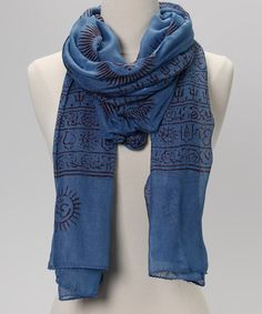 Take a look at this Blue Mahadeva Prayer Shawl by OMSutra on #zulily today!