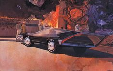 parked at angle - Syd Mead The Legend Of Zelda, Blade Runner, Aliens, Syd Mead, 70s Sci Fi Art, Future Vision, Moving To California, Retro Futurism, Concept Cars