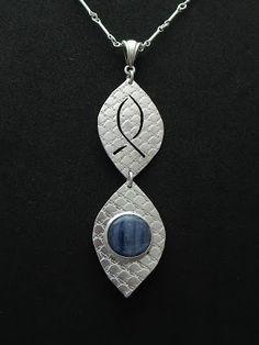 """""""Living Water"""" - Sterling Silver & Blue Kyanite"""