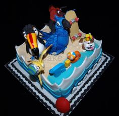 RIO Cake The Toucan! Rio Cake, Cupcake Cakes, Cupcakes, Birthday Parties, Kid Parties, Love Cake, Amazing Cakes, Cake Decorating, Rio 2
