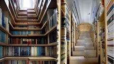 Stairway to heaven? The perfect space to store your books, and grab one on your way up to bed.