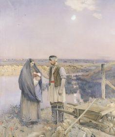 Les voyageurs fatigués (ou La fin de la journée) Jean-Charles Cazin, 1885 Huile sur toile Corcoran Art Gallery, Wahsington DC, Etats-Unis d'Amérique