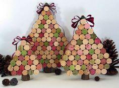 Tutoriales y DIYs: Árbol de navidad con tapones de corcho