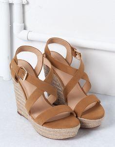 Sandales Compensées Jute Bershka   Chaussures   Bershka France
