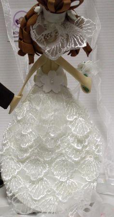 Fofuchos Novios detalle vestido