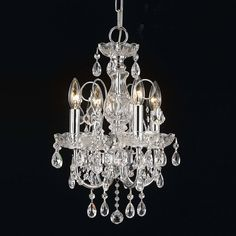 Lámpara para dormitorio 46 cm. Lampara de cristal - Lampara Niquel - Lamparas de Cristal - Decorative Chandelier - España