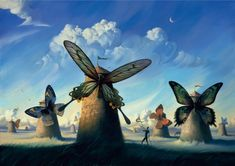 """Something you'd think would come out of Don Quixote's """"windmill giants."""""""