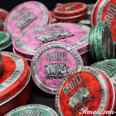 Its in. Visit www.pomade.com and get your fill of #reuzel #pomade #heavyhold in a #hog #pig or #piglet #oilbased #bubblegum #scent #hair #mrpomade