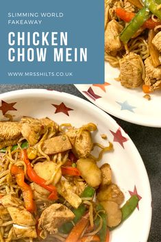 A recipe for a Slimming World friendly fakeaway, a delicious low syn and low in fat version of the Chinese favourite Chicken Chow Mein Slimming World Recipes Syn Free Chicken, Slimming Recipes, Family Recipes, Family Meals, Slimming World Fakeaway, Chinese Fakeaway, Chorizo Pasta, Healthy Meals, Healthy Recipes
