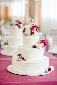 3 tier wedding cake with flowers MELINDA + MARK MARRIED 5-28-17 Photo By Krissy Breece Photography
