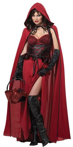 Dark Red Riding Hood Adult Womens Costume - 352736