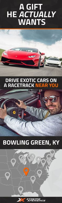 This Father's Day, get him a gift that he actually wants. Driving a Ferrari, Lamborghini, Porsche or other exotic sports car on a racetrack is a unique gift idea that is guaranteed to leave a smile on his face, a good story to tell and a life-long memory. Xtreme Xperience brings the thrill of a lifetime to you at the National Corvette Museum Motorsports Park from May 20-22, 2016. Reserve your Supercar Xperience today for as low as $219. Space is limited!