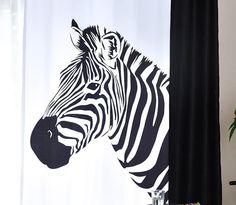 Black and White Zebra Print Funky Cool Custom Curtains Zebra Curtains, Cool Curtains, How To Make Curtains, Custom Curtains, Zebra Print, Animal Print Rug, Curtain Length, White Zebra