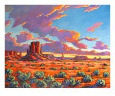 Monument Valley Sunset Giclee Print by Patty Baker at Art.com