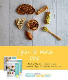 Menu DME pour bébé de 6 mois et plus - Maman Mange Bien Toddler Meals, Kids Meals, Toddler Food, Baby Led Weaning, Baby Food Recipes, Baby Love, Breakfast, Evolution, Studio