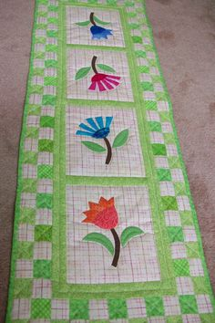 "Lovely ""Summer Flowers"" table runner xxxx"
