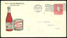 USA : T.A. Snider Preserve Co Advert cover Bottle of Catsup & Can of Tomato Soup
