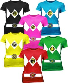 Commemorate your favorite cult classic with an awesome Power Rangers Costume Juniors Tees . Free shipping on Power Rangers orders over $50.
