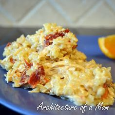 Architecture of a Mom: Quick Parmesan Pasta with Chicken Food Dishes, Main Dishes, Pasta Dishes, Food Food, Rice Dishes, Leftovers Recipes, Dinner Recipes, Yummy Recipes, Recipies