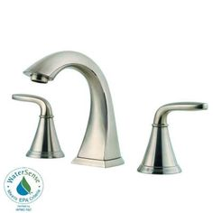 Pfister Pasadena 8 in. Widespread 2-Handle High-Arc Bathroom Faucet in Brushed Nickel - F-049-PDKK - The Home Depot