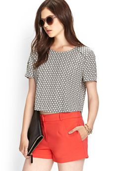 Boxy Geo Woven Top | FOREVER21 - 2000124140