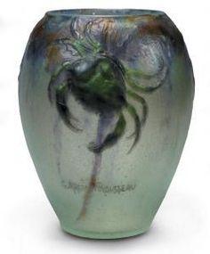 """Gabriel Argy-Rousseau - Vase """"crabes Et Algues"""""""