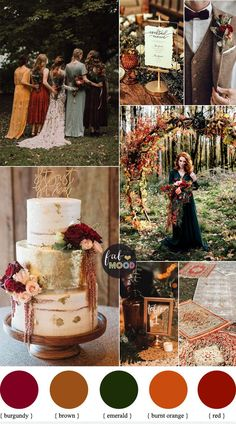 Colorful Fall Wedding Palette That Celebrate The Season - Jewel Tones, unusual f. - - Colorful Fall Wedding Palette That Celebrate The Season - Jewel Tones, unusual fall wedding colors,unique fall wedding color schemes burgundy, burnt o. Fall Wedding Colors, Wedding Flowers, Wedding Color Schemes Fall Rustic, Orange Wedding Colors, Metallic Wedding Theme, Cranberry Wedding Colors, Mustard Wedding Colors, Green And Burgundy Wedding, Autum Wedding