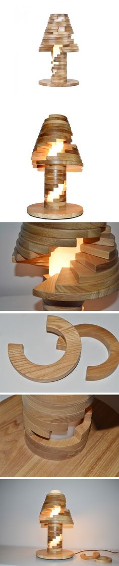 Change your home lighting by using this Unique Design Wooden Table Lamp with…