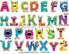 Monster Alphabet by MyClipArtStore.com, via Shutterstock
