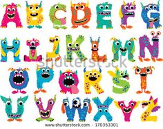 Monster Alphabet by MyClipArtStore.com, via Shutterstock